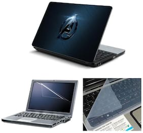 Namo Arts Laptop Skins with Laptop Screen Protector and Laptop KeyGuard for All Laptop - Notebook  PTMHQ110011027 bluish avengers logo