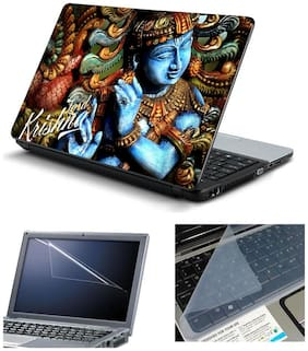 Namo Arts Laptop Skins with Laptop Screen Protector and Laptop KeyGuard for All Laptop - Notebook  PTMHQ110011084 Shri Krishna