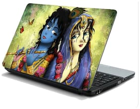 Namo Arts  Radha Krishna Artwork Laptop Skin Stickers HP-Dell-Lenovo-Acer-Asus Laptops/ Notebooks 15.6 inch
