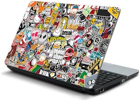 Namo Arts  Sticker Bomb  Laptop Skin Stickers for HP-Dell-Lenovo-Acer-Asus 15.6 inch Laptops / Notebooks