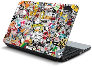 Buy Namo Arts Sticker Bomb Laptop Skin Stickers For Hp Dell Lenovo Acer Asus 15 6 Inch Laptops Notebooks Online At Low Prices In India Paytmmall Com