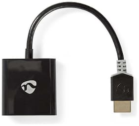 Nedis HDMI - VGA Cable | Excellent Performance HDMI Connector  -  VGA Female + 3.5 mm output | 0.2m | Anthracite