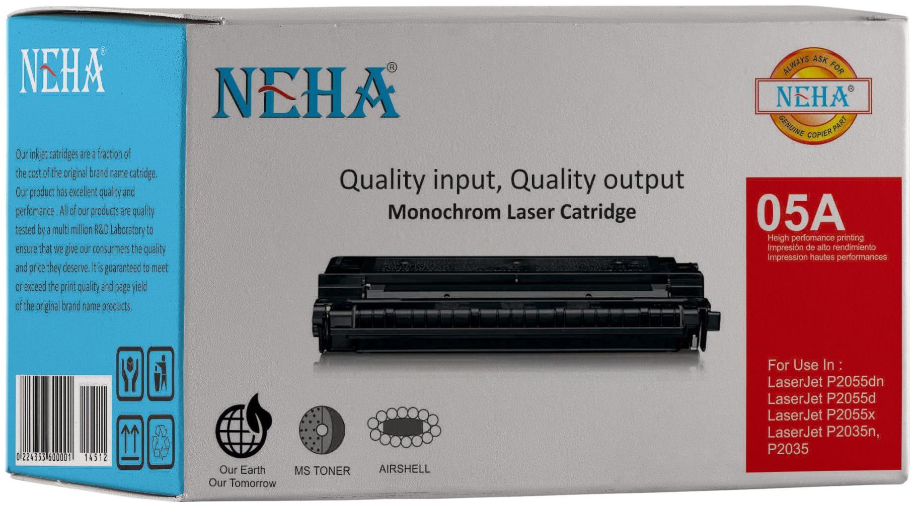 Neha 05A Compatible Laser Toner Cartridge for HP Laserjet P2032, P2035, P2035n, P2055, P2055d, P2055dn, P2055x