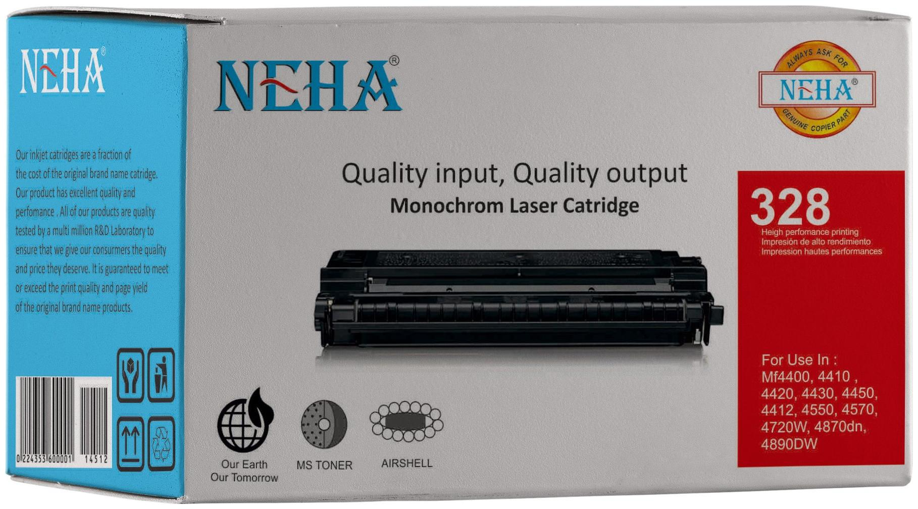 Neha 328 Compatible Laser Toner Cartridge for Canon MF4400, 4410, 4420, 4430, 4450, 4412, 4550, 4570, 4720w, 4750, 4870dn, 4890dw