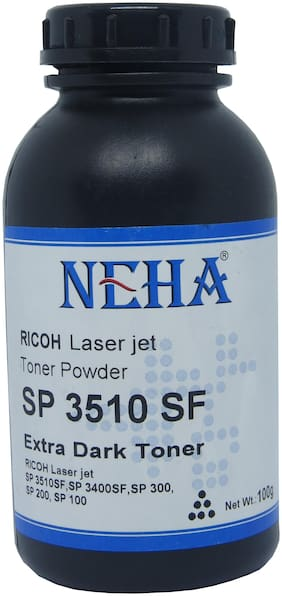 Neha 3510 (100Gm) Toner For Use In Ricoh SP100 / SP111 / SP111SU / SP200 / SP210 / SP212SNw / SP300 / SP 300DN / SP310DN / SP 325Sfnw /SP3400 / SP3410 / SP3510 / Aficio 3510DN