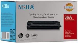 Neha 36A Compatible Laser Toner Cartridge for HP Laserjet - P1505, M1120 and M1522 MFP