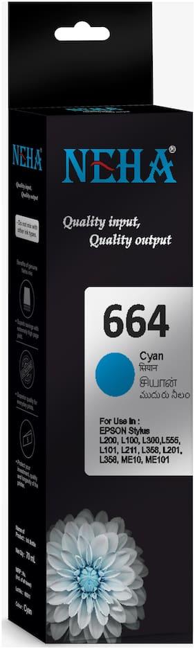 Neha 664 CYAN SINGLE COLOR INK FOR EPSON L200,L100,L300,L555,L101,L211,L358,L201,ME10,ME101