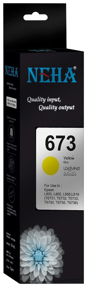 Neha 673 YELLOW SINGLE COLOR INK FOR EPSON L800,L805,L850,L810
