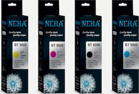 Neha BT6000/5000 INK PACK OF 4 FOR BROTHER DCP-T300,T500W,T700W,MFC-T800W