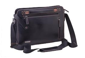 Neopack Urban Messenger Bag / Slim Leather Bag for All  33.02 cm (13 Inch) Laptops / Apple Macbook Pro & Air 13.3 (Black)