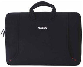 Neopack Handle Sleeve / Slim Bag for All 35.56cm  (14 Inch) Laptops & 39.11cm (15.4 Inch) Macbook Pro - Black (HP  Apple Macbook  Sony  Samsung  Lenovo  IBM  Asus  Toshiba  Compaq  Acer)
