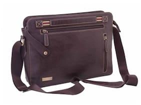 Neopack Urban Messenger Bag/Slim Leather Bag for all 33.02 cm (13 Inch) Laptop/Apple Macbook Pro & Air 33.78 cm (13.3 Inch) - Brown (HP Apple Macbook Sony Samsung Lenovo IBM Asus Toshiba Compaq Acer)
