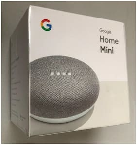 NEW Google Home Mini Smart Speaker - Chalk Grey - FACTORY SEALED, Free Shipping