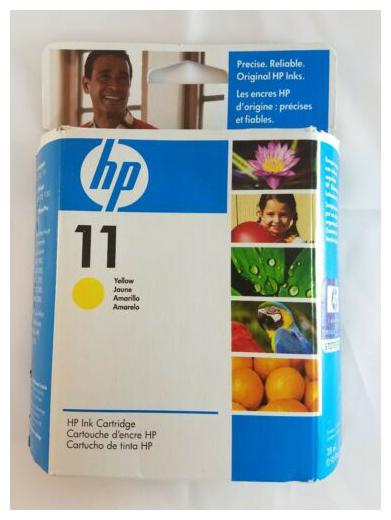 New HP 11 Yellow C4838A Genuine New Printer ink Cartridge