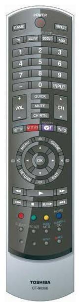 NEW TOSHIBA TV REMOTE CONTROL FOR 24SL415U 32SL415Y 40S51U