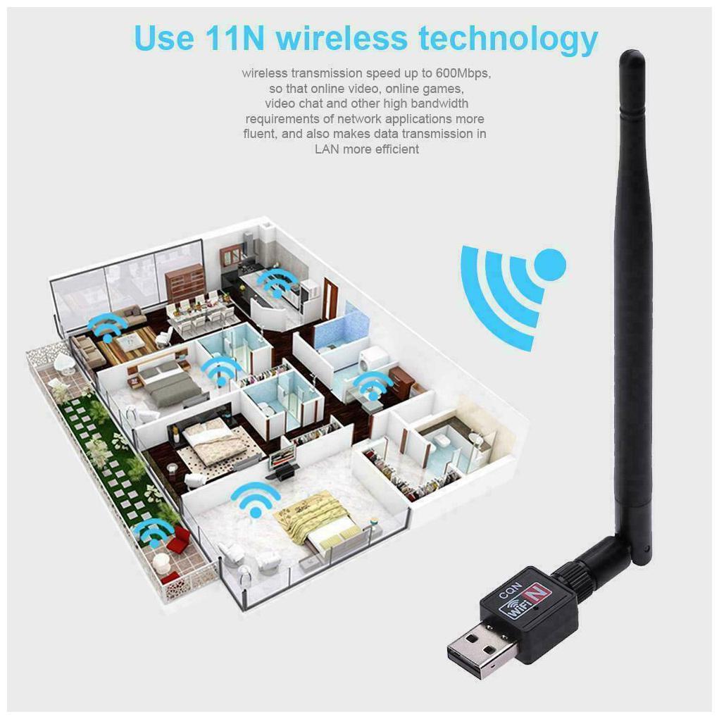 New USB WiFi Adapter Wireless 802.11N Internet Network w/ Antenna USA Seller