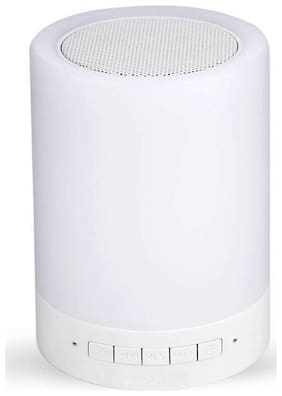 Newvez Bluetooth Portable Speaker ( White )