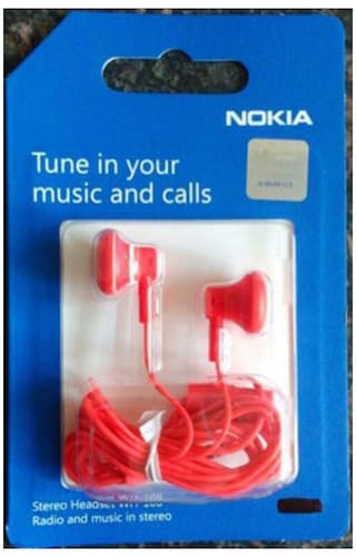 c6fc1fc8663 Buy Nokia WH-108 Wired In the Ear Headset (Red) Online at Low Prices ...