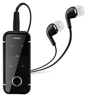NORY Bluetooth In-Ear Headset For All Smart Phones with Aux Cable (Black)