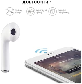 Oppo F3 / Oppo F1S / F3 Plus / Oppo F7 Compatible In-Ear Wireless Bluetooth Music Earphone Bluetooth V4.1 With Mic By S4 (Only Single Piece)