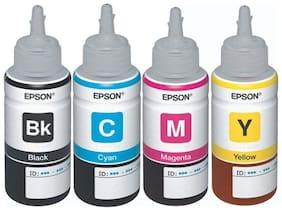 EPSON 75ml INK Bottles for L100 L110 L200 L210 Printer Ink with Reset Codes (Pack of 4)