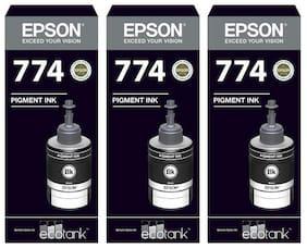 Original Epson 774 Black Ink Pack of 3
