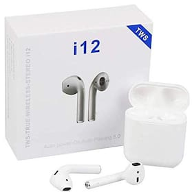 VB TRADE Original Wireless Bluetooth 4.1 Mini Sports Airpods with Mic with Portable Charging Case for Apple Iphone 6, 6s, 7, 7s, 8, 8Plus, X In-Ear Bluetooth Headset ( White )