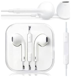 { Pack Of 2 }100% Original & Genuine Apple Iphone Ear-Pods & Earphone For 4/ 4S/ 5/ 5S/ 6/ 6S With Mic And Sound Control