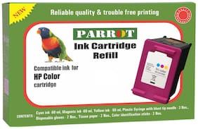 Parrot cartridge refill for HP 680 678 802 803 46 818  colour ink cartridge ,fine quality  180ml true colour ink & tools