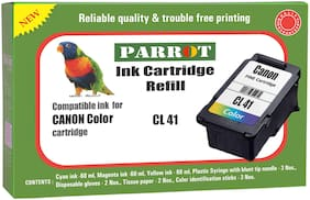 Parrot ink cartridge refill for Canon CL 41  color ink cartridge