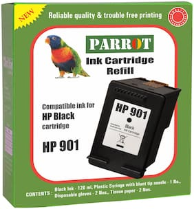 Parrot ink cartridge refill for HP 901  black ink cartridge