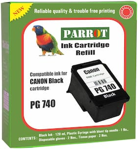 Parrot ink cartridge refill for Canon PG 740  black ink cartridge