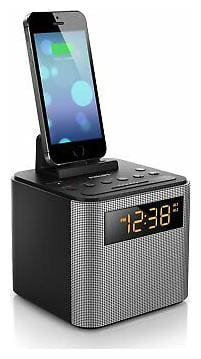 Philips Ajt3300 Desktop Clock Radio - 2 W Rms - Mono - Apple Dock Interface -