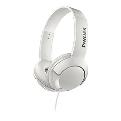 Philips Bass+ SHL3070 On Ear Headphones (White)