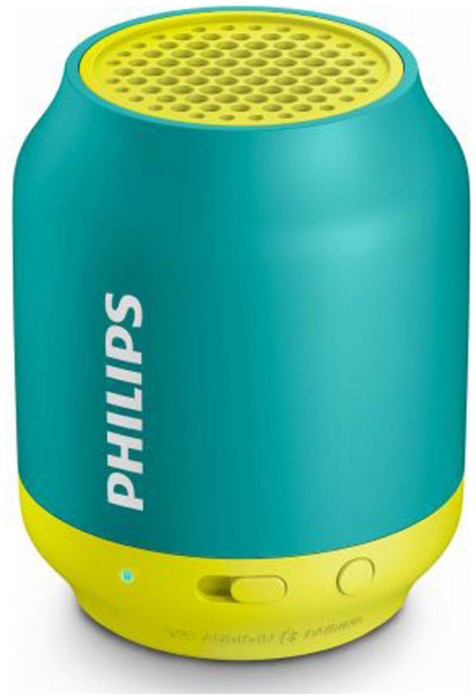 Philips BT50A Portable Bluetooth Speaker   Green   Yellow