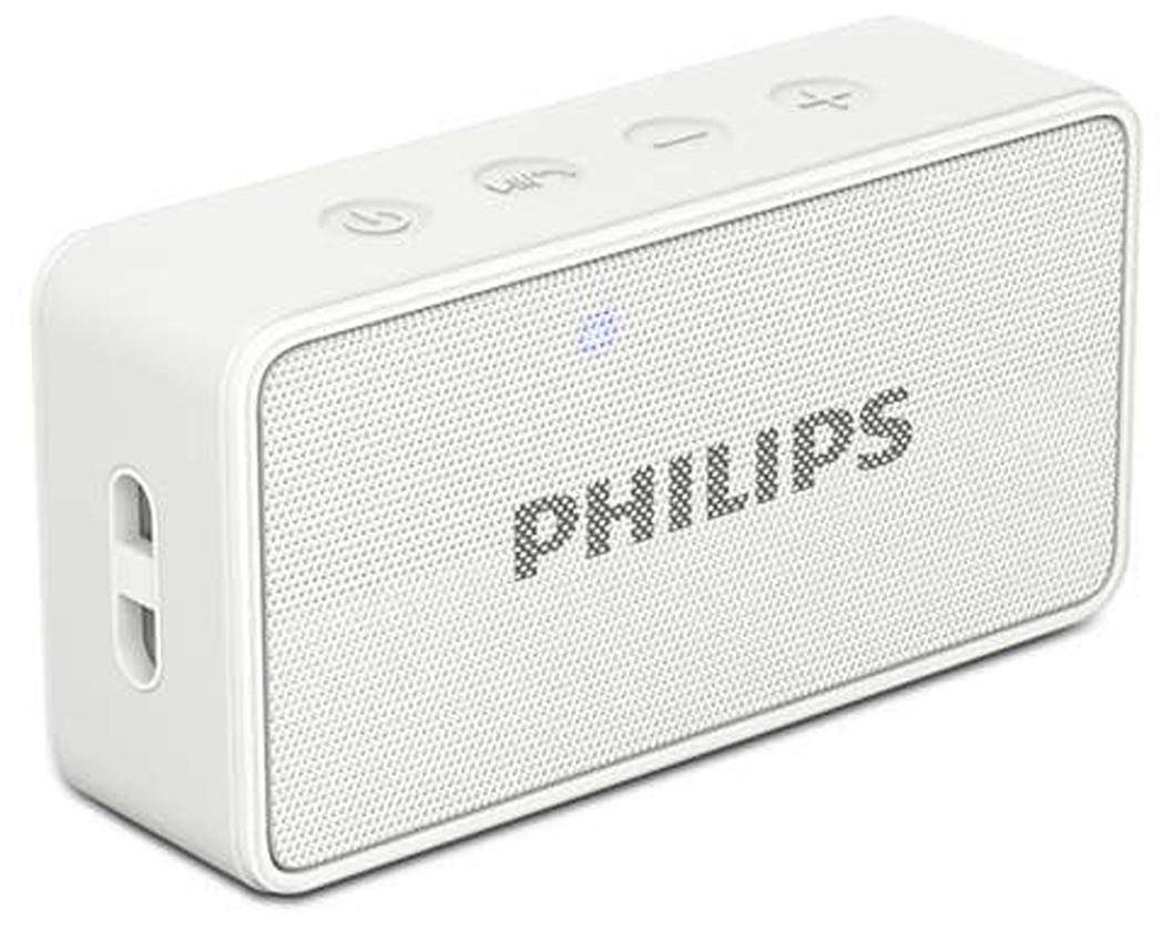 Philips BT64W Bluetooth Speaker (White)