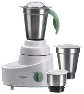 Philips HL1606/03 500 W Mixer Grinder (White & Green/3 Jar)