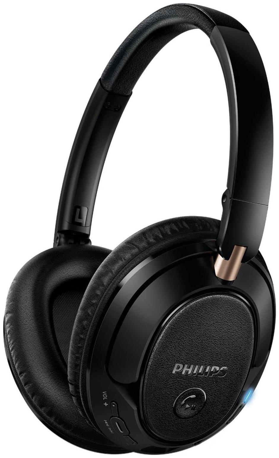 Philips SHB7250/00 Wireless Bluetooth Headphones  Black
