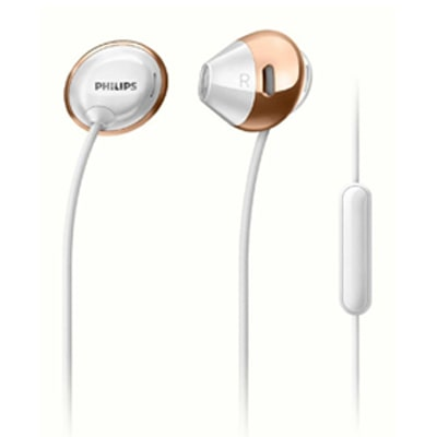 Philips SHE4205WT/00 Wired Earphone With Mic (White )