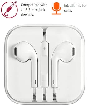 Pickadda A1 In-Ear Wired Headphone ( White )