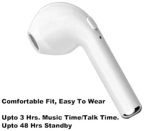 Pickadda I7 In-ear Bluetooth Headsets ( White )