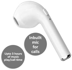 Pickadda HBQ-i7 Mono Bluetooth Headset ( White )