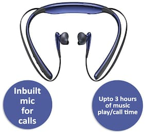 Pickadda Level U Design Neckband In-Ear Bluetooth Headset ( Blue )