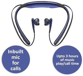 Pickadda Level U Design Neckband In-Ear Bluetooth Headset ( Blue )