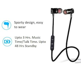 Pickadda Magnetic_BT In-Ear Bluetooth Headset ( Black )