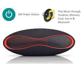 Pickadda RUGBY 3W Bluetooth Portable Speaker ( Black )