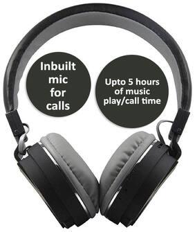 Pickadda SH-12 On-Ear Bluetooth Headset ( Black )