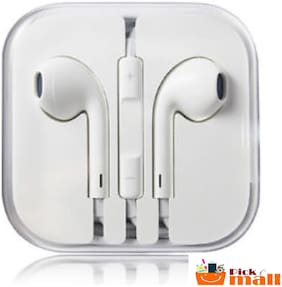PickMall Earphone For All Smartphones & Apple iPhone (White)