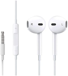 PICKMALL 422 In-Ear Wired Headphone ( White )