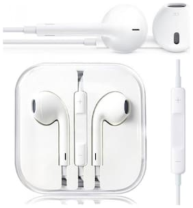 Plus shine ip-earphone In-Ear Wired Headphone ( White )